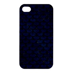 Scales3 Black Marble & Blue Grunge (r) Apple Iphone 4/4s Hardshell Case by trendistuff