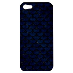 Scales3 Black Marble & Blue Grunge (r) Apple Iphone 5 Hardshell Case by trendistuff