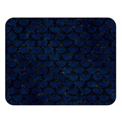 Scales3 Black Marble & Blue Grunge (r) Double Sided Flano Blanket (large) by trendistuff
