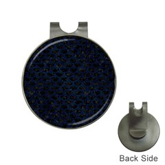 Scales3 Black Marble & Blue Grunge Golf Ball Marker Hat Clip by trendistuff