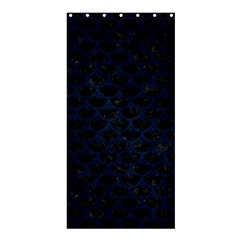 Scales3 Black Marble & Blue Grunge Shower Curtain 36  X 72  (stall) by trendistuff