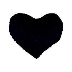 Scales3 Black Marble & Blue Grunge Standard 16  Premium Heart Shape Cushion  by trendistuff