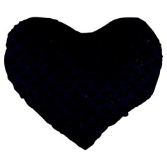 Scales3 Black Marble & Blue Grunge Large 19  Premium Heart Shape Cushion by trendistuff