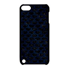 Scales3 Black Marble & Blue Grunge Apple Ipod Touch 5 Hardshell Case With Stand by trendistuff