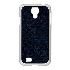 Scales3 Black Marble & Blue Grunge Samsung Galaxy S4 I9500/ I9505 Case (white) by trendistuff