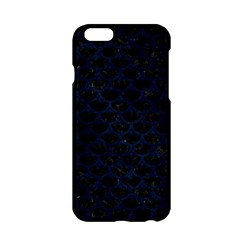 Scales3 Black Marble & Blue Grunge Apple Iphone 6/6s Hardshell Case by trendistuff