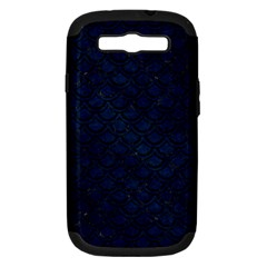 Scales2 Black Marble & Blue Grunge (r) Samsung Galaxy S Iii Hardshell Case (pc+silicone) by trendistuff