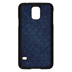 Scales2 Black Marble & Blue Grunge (r) Samsung Galaxy S5 Case (black) by trendistuff