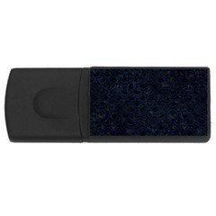 Scales2 Black Marble & Blue Grunge Usb Flash Drive Rectangular (4 Gb) by trendistuff