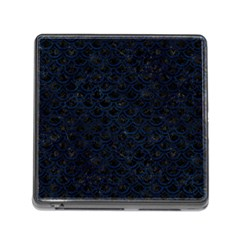 Scales2 Black Marble & Blue Grunge Memory Card Reader (square) by trendistuff