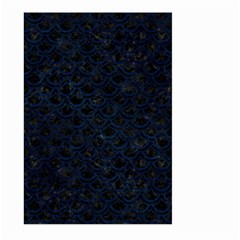 Scales2 Black Marble & Blue Grunge Large Garden Flag (two Sides) by trendistuff