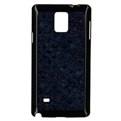 Scales2 Black Marble & Blue Grunge Samsung Galaxy Note 4 Case (black) by trendistuff