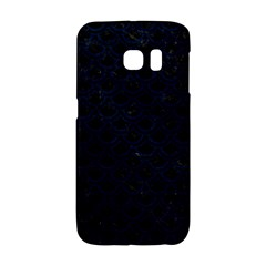 Scales2 Black Marble & Blue Grunge Samsung Galaxy S6 Edge Hardshell Case by trendistuff