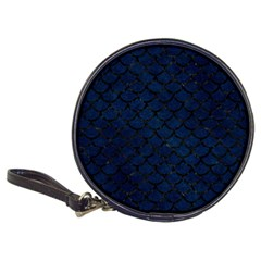 Scales1 Black Marble & Blue Grunge (r) Classic 20 Cd Wallet by trendistuff