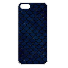 Scales1 Black Marble & Blue Grunge (r) Apple Iphone 5 Seamless Case (white) by trendistuff