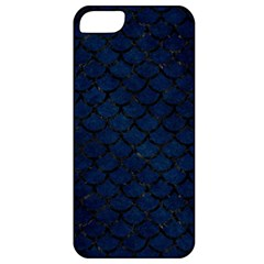 Scales1 Black Marble & Blue Grunge (r) Apple Iphone 5 Classic Hardshell Case by trendistuff