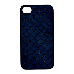 Scales1 Black Marble & Blue Grunge (r) Apple Iphone 4/4s Hardshell Case With Stand by trendistuff