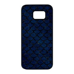 Scales1 Black Marble & Blue Grunge (r) Samsung Galaxy S7 Edge Black Seamless Case by trendistuff