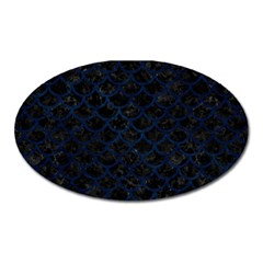 Scales1 Black Marble & Blue Grunge Magnet (oval) by trendistuff