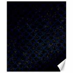 Scales1 Black Marble & Blue Grunge Canvas 8  X 10  by trendistuff