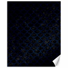 Scales1 Black Marble & Blue Grunge Canvas 16  X 20  by trendistuff