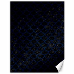 Scales1 Black Marble & Blue Grunge Canvas 36  X 48  by trendistuff