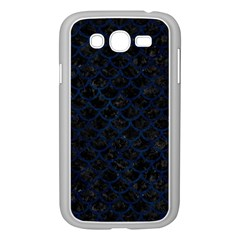 Scales1 Black Marble & Blue Grunge Samsung Galaxy Grand Duos I9082 Case (white) by trendistuff