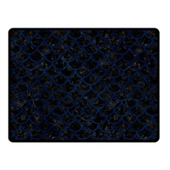 Scales1 Black Marble & Blue Grunge Double Sided Fleece Blanket (small) by trendistuff
