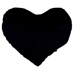 Scales1 Black Marble & Blue Grunge Large 19  Premium Flano Heart Shape Cushion by trendistuff