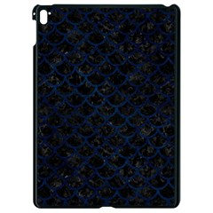 Scales1 Black Marble & Blue Grunge Apple Ipad Pro 9 7   Black Seamless Case by trendistuff