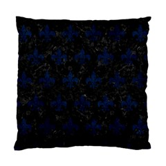 Royal1 Black Marble & Blue Grunge (r) Standard Cushion Case (two Sides) by trendistuff