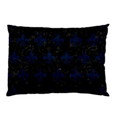 Royal1 Black Marble & Blue Grunge (r) Pillow Case by trendistuff