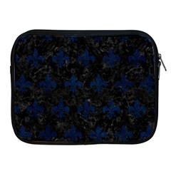 Royal1 Black Marble & Blue Grunge (r) Apple Ipad Zipper Case by trendistuff
