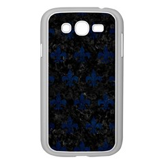 Royal1 Black Marble & Blue Grunge (r) Samsung Galaxy Grand Duos I9082 Case (white) by trendistuff