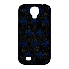 Royal1 Black Marble & Blue Grunge (r) Samsung Galaxy S4 Classic Hardshell Case (pc+silicone) by trendistuff