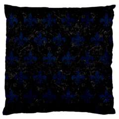 Royal1 Black Marble & Blue Grunge (r) Standard Flano Cushion Case (one Side) by trendistuff