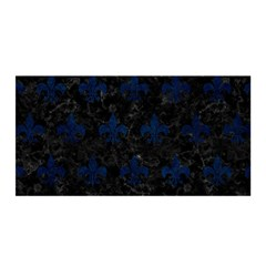 Royal1 Black Marble & Blue Grunge (r) Satin Wrap by trendistuff
