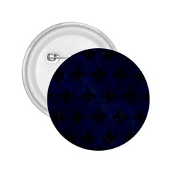 Royal1 Black Marble & Blue Grunge 2 25  Button by trendistuff