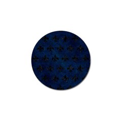 Royal1 Black Marble & Blue Grunge Golf Ball Marker by trendistuff