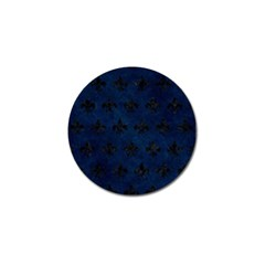 Royal1 Black Marble & Blue Grunge Golf Ball Marker (10 Pack) by trendistuff