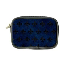 Royal1 Black Marble & Blue Grunge Coin Purse
