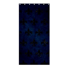 Royal1 Black Marble & Blue Grunge Shower Curtain 36  X 72  (stall) by trendistuff