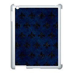 Royal1 Black Marble & Blue Grunge Apple Ipad 3/4 Case (white) by trendistuff