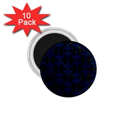 Puzzle1 Black Marble & Blue Grunge 1 75  Magnet (10 Pack)  by trendistuff