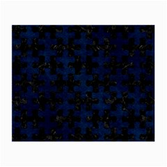 Puzzle1 Black Marble & Blue Grunge Small Glasses Cloth by trendistuff