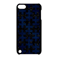 Puzzle1 Black Marble & Blue Grunge Apple Ipod Touch 5 Hardshell Case With Stand by trendistuff