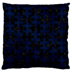 Puzzle1 Black Marble & Blue Grunge Standard Flano Cushion Case (two Sides) by trendistuff