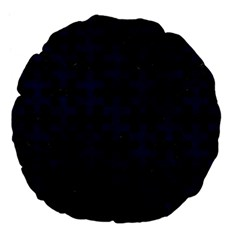 Puzzle1 Black Marble & Blue Grunge Large 18  Premium Flano Round Cushion  by trendistuff