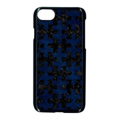 Puzzle1 Black Marble & Blue Grunge Apple Iphone 7 Seamless Case (black) by trendistuff
