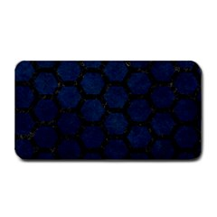 Hexagon2 Black Marble & Blue Grunge (r) Medium Bar Mat by trendistuff